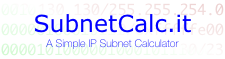 SubnetCalc.it - A Simple IP Subnet Calculator