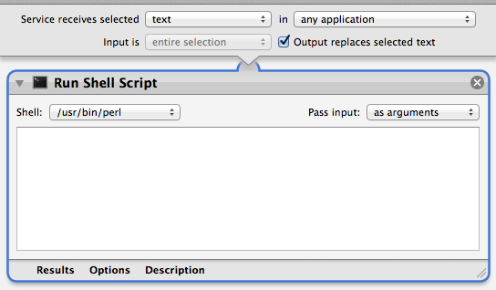 Automator Shell Script Action