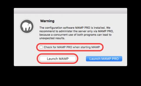 Avoid MAMP Pro