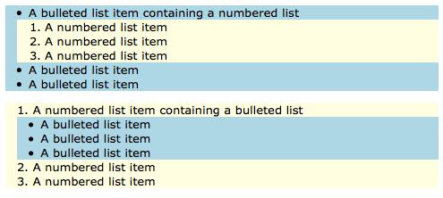 PBS 10 - Nice Nested Lists
