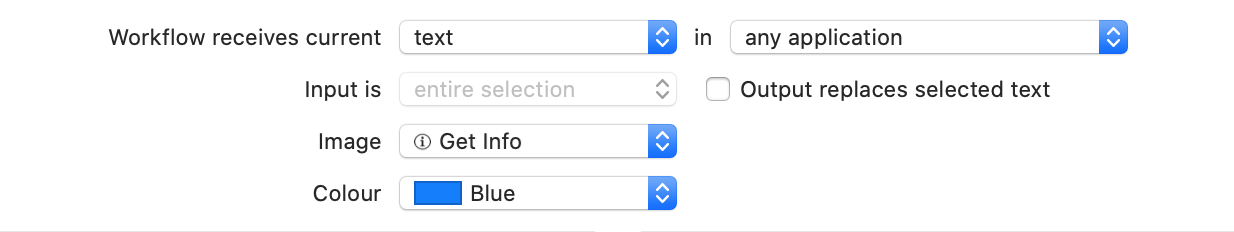 Screenshot showing automation action that takes text input in any app and does not replace it