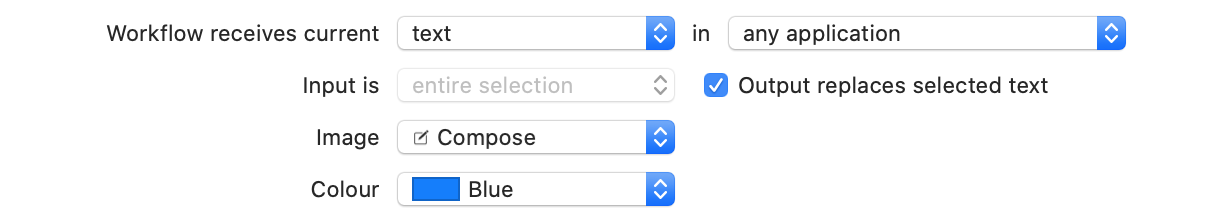 Screenshot showing automation action that takes text input in any app and does replace it